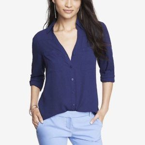 Express Slim Fit Convertible Portofino Shirt